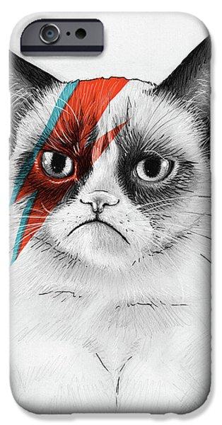iPhone 6 Case - Grumpy Cat As David Bowie by Olga Shvartsur