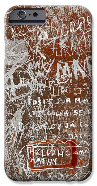 Vandalism iPhone Cases - Grunge Background iPhone Case by Carlos Caetano