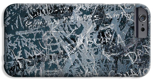 Vandalism iPhone Cases - Grunge Background I iPhone Case by Carlos Caetano
