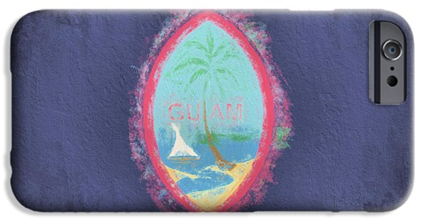 IPhone 6 Case featuring the digital art Guam Flag by JC Findley