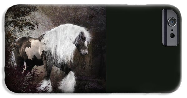 Gypsy Digital iPhone Cases - Gypsy Vanner iPhone Case by Shanina Conway