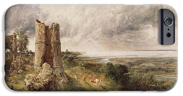 Ruin iPhone Cases - Hadleigh Castle iPhone Case by John Constable