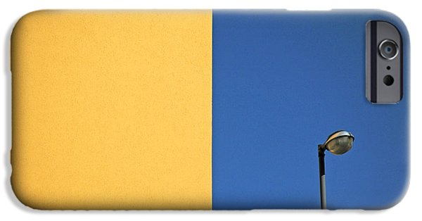 Colorful iPhone 6 Case - Half Yellow Half Blue by Silvia Ganora