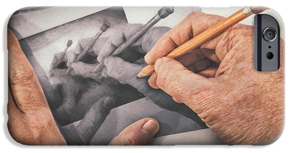Repeat iPhone 6 Case - Hands Drawing Hands by Scott Norris