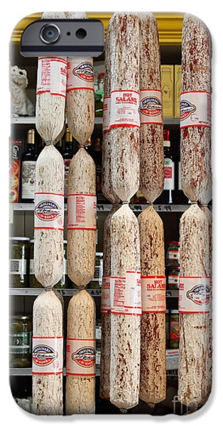 Delicatessen iPhone Cases - Hanging Salami iPhone Case by Wingsdomain Art and Photography