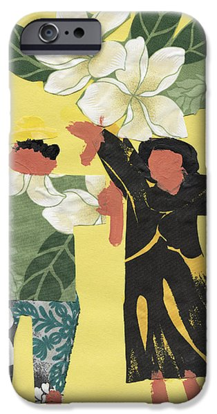 Art Medium iPhone Cases - Happy People iPhone Case by Katie OBrien - Printscapes