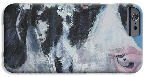 Great Dane Puppy iPhone Cases - harlequin Great Dane iPhone Case by Lee Ann Shepard