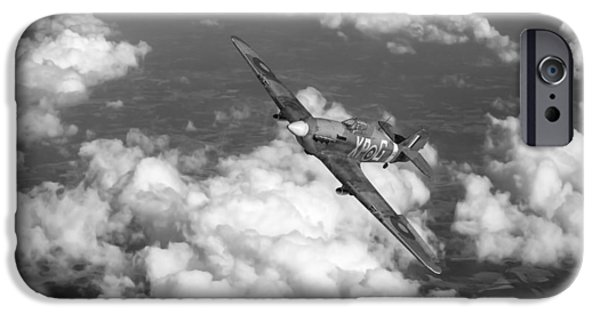 IPhone 6 Case featuring the photograph Hawker Hurricane IIb Of 174 Squadron Bw Version by Gary Eason