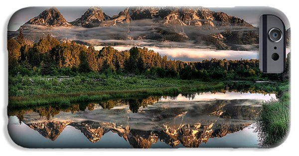 Landscape iPhone 6 Case - Hazy Reflections At Scwabacher Landing by Ryan Smith