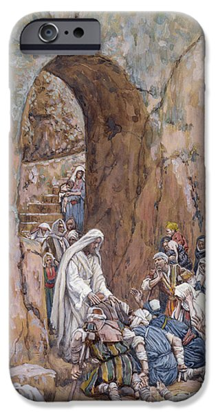 Miracle iPhone Cases - He did no Miracles Save that He Healed Them iPhone Case by Tissot