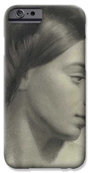 Hairstyle iPhone Cases - Head of a Girl iPhone Case by Anonymous