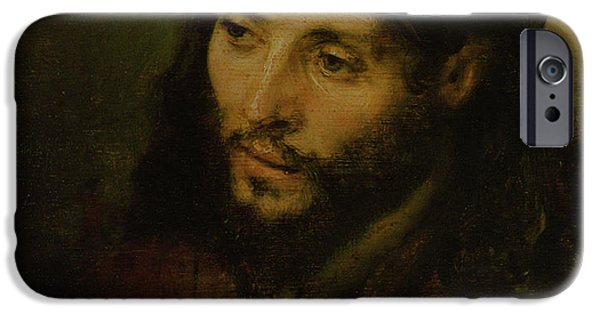 Male iPhone Cases - Head of Christ iPhone Case by Rembrandt