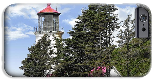 Head Harbour Lighthouse iPhone Cases - Heceta Head Lighthouse - Oregons iconic Pacific Coast Light iPhone Case by Christine Till
