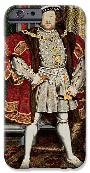 Young iPhone Cases - Henry VIII iPhone Case by Hans Holbein the Younger