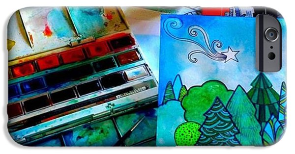 Green iPhone 6 Case - Here Is My Newest Watercolor And Ink by Robin Mead