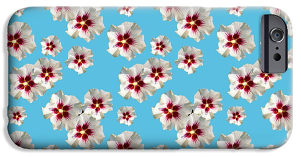 IPhone 6 Case featuring the mixed media Hibiscus Flower Pattern by Christina Rollo