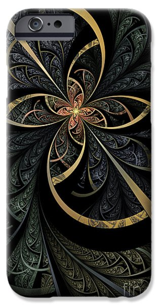 Fractals Fractal Digital Art iPhone Cases - Hidden Depths iPhone Case by John Edwards
