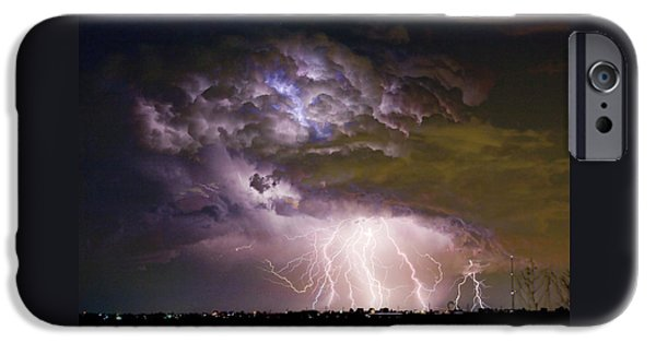 Highway 52 Storm Cell - Two And Half Minutes Lightning Strikes IPhone 6 Case