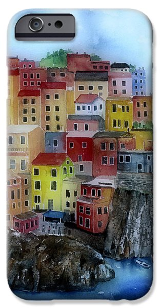 City Scape iPhone Cases - Hillside Homes iPhone Case by Arline Wagner