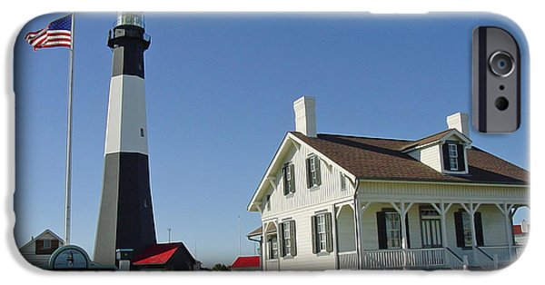 Tybee Island iPhone Cases - Historic Tybee Island Lighthouse II iPhone Case by Suzanne Gaff