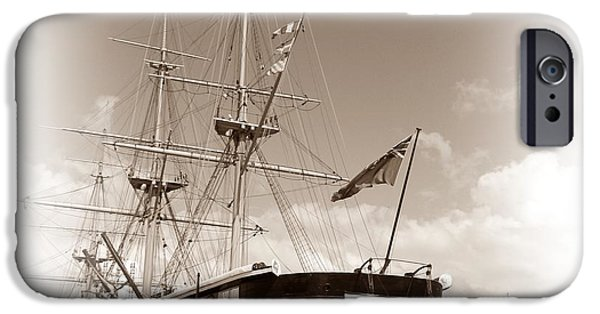 Pirate Ship iPhone Cases - HMS Warrior iPhone Case by Sharon Lisa Clarke