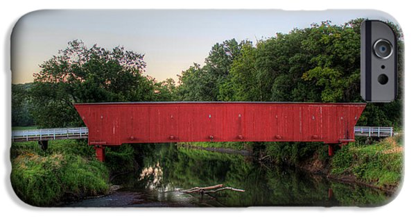 Covered Bridge iPhone Cases - Hogback Covered Briodge iPhone Case by Thomas Danilovich