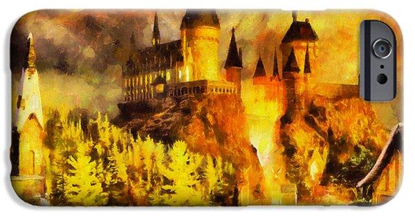 Hogwarts iPhone Cases - Hogwarts iPhone Case by George Rossidis