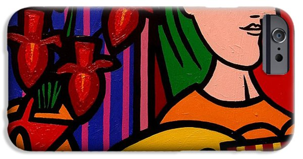 Cushion iPhone Cases - Homage to Picasso iPhone Case by John  Nolan