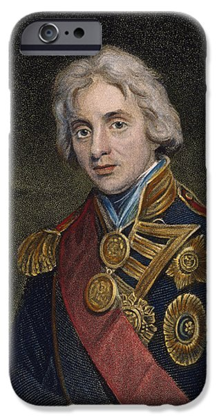 Admiral iPhone Cases - Horatio Nelson (1758-1805) iPhone Case by Granger