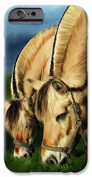 Time2paint iPhone Cases - Horse Portrait iPhone Case by Michael Greenaway