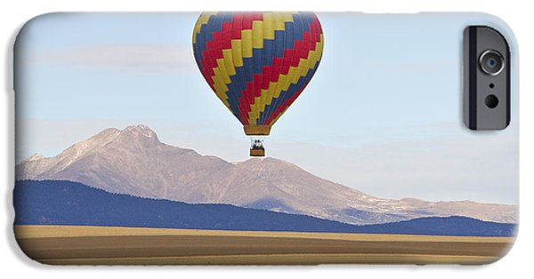 Hot Air Balloon iPhone Cases - Hot Air Balloon and Longs Peak iPhone Case by James BO  Insogna