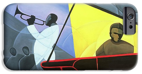 Music iPhone Cases - Hot and Cool Jazz iPhone Case by Kaaria Mucherera