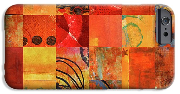 IPhone 6 Case featuring the painting Hot Color Play by Nancy Merkle