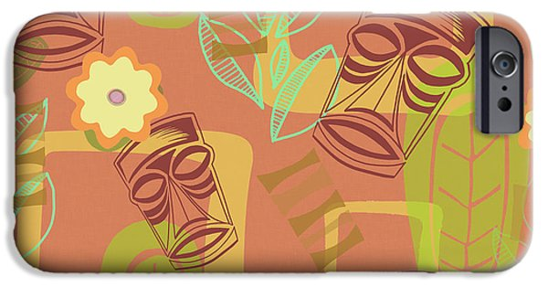 Retro iPhone 6 Case - Hour At The Tiki Room by Little Bunny Sunshine