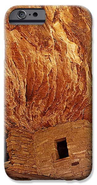 House on Fire Ruins iPhone Case by Melany Sarafis