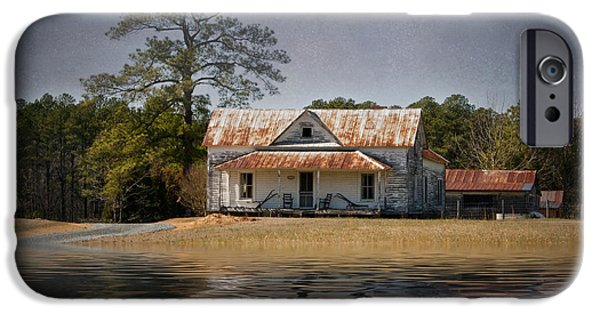 White House iPhone Cases - House With Rusted Roof iPhone Case by Robert Meyerson