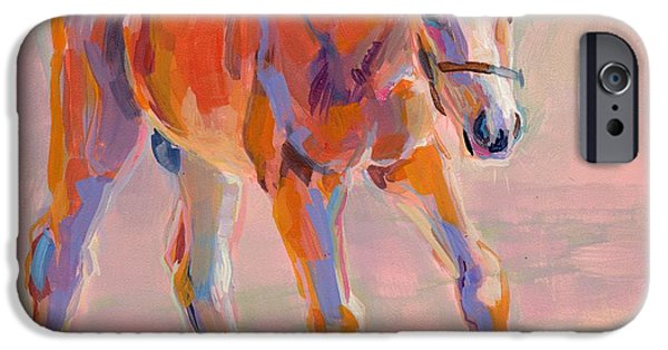 Horse Racing iPhone Cases - Hugo iPhone Case by Kimberly Santini