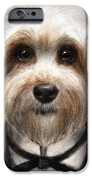 iPhone 6 Case - Humorous Dressed Dog Painting By by Svetlana Novikova