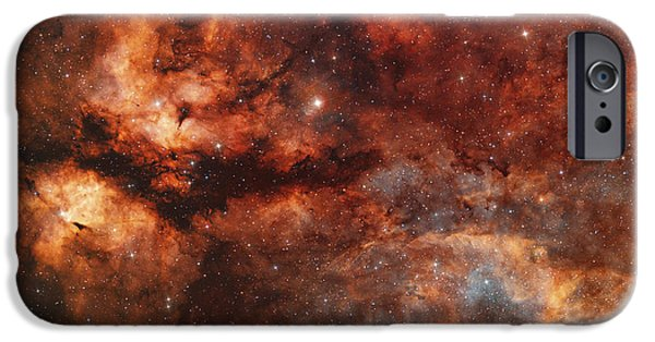 Stellar iPhone Cases - Ic 1318 And The Butterfly Nebula iPhone Case by Rolf Geissinger