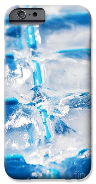 Solid iPhone Cases - Ice Cubes iPhone Case by Carlos Caetano