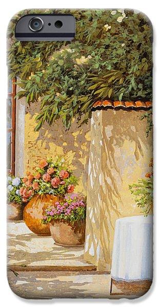 il muretto e il tavolo iPhone Case by Guido Borelli