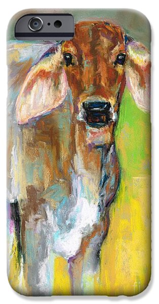 Bulls Pastels iPhone Cases - Im All Ears iPhone Case by Frances Marino