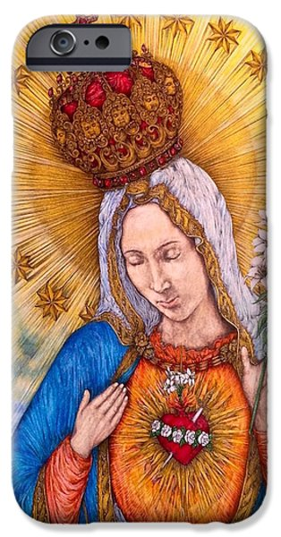 Immaculate Heart Of Virgin Mary IPhone 6 Case by Kent Chua