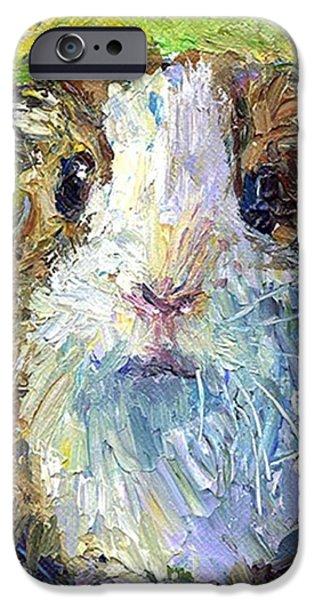 iPhone 6 Case - Impasto Impressionistic  Guinea Pig Art by Svetlana Novikova