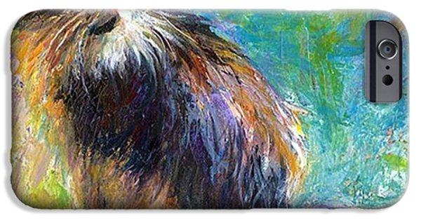 Impressionistic Tuxedo Cat Painting By IPhone 6 Case