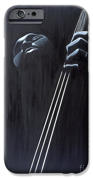 Bassist iPhone Cases - In a Groove iPhone Case by Kaaria Mucherera