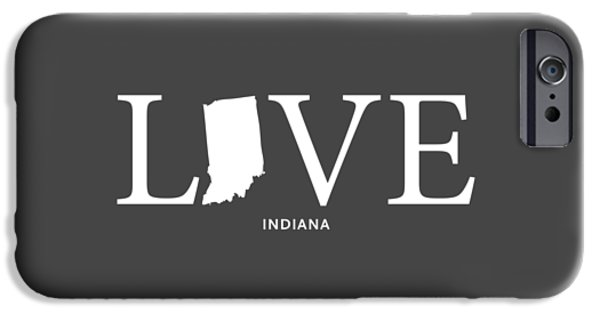 Evansville iPhone Cases - IN Love iPhone Case by Nancy Ingersoll