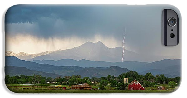 IPhone 6 Case featuring the photograph Incoming Storm Panorama View by James BO Insogna