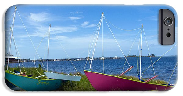 Dragon Greeting Cards iPhone Cases - Indian River Lagoon on the Easr Coast of Florida iPhone Case by Allan  Hughes