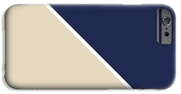 Contemporary iPhone 6 Case - Indigo And Sand Geometric by Linda Woods